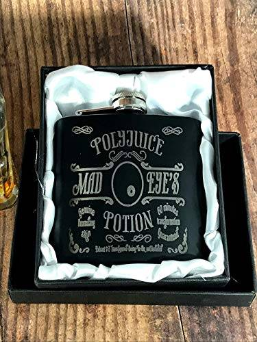 POLY1 - Engraved Stainless Steel Mad Eye's PolyJuice Potion Harry Potter Inspired Flask