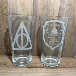 IMG 0219 300x300 - Custom Engraved Bar Glass Deathly Hallows