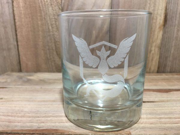IMG 2980 600x450 - Custom Engraved Team Mystic Pokémon Whiskey Glass