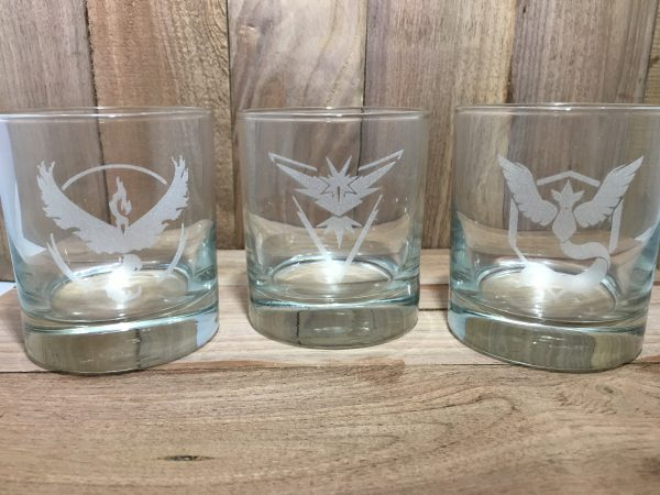 IMG 2985 600x450 - Custom Engraved Team Pokémon Set Whiskey Glass