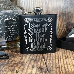 """swear4 300x300 - Engraved Stainless Steel """"I Solemnly Swear"""" Harry Potter Inspired Flask"""