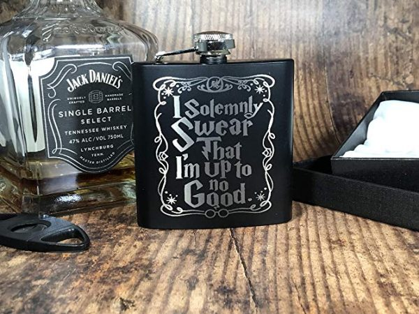 "swear4 600x450 - Engraved Stainless Steel ""I Solemnly Swear"" Harry Potter Inspired Flask"