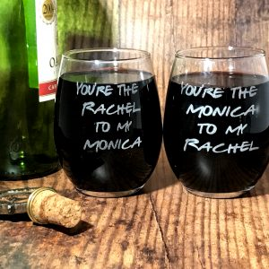RachelAndMonica01 300x300 - Friends Inspired Wine Glasses
