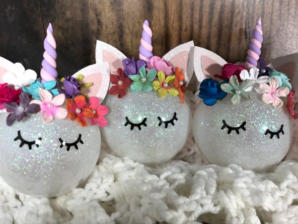 Unicorn06 600x450 - Customizable Unicorn Ornament