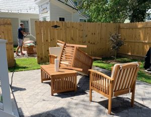 ep146 John Cleaning Duplex 300x233 - 5 Lessons From Our First Summer As Airbnb Hosts